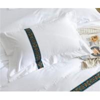 酒店布草 贡缎加各种款式织带